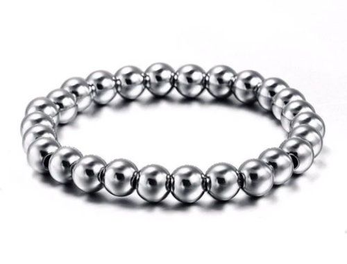 Stainless Steel Bead Bracelet 8mm