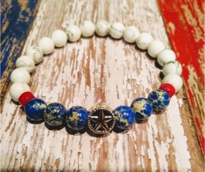 USA Patriotic Red White and Blue Bracelet