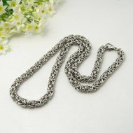 Men's Byzantine Stainless Steel Necklace