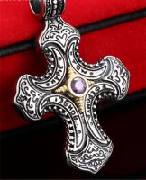 Medieval Cross with Purple Stone