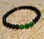 Emerald and Tourmaline Bracelet