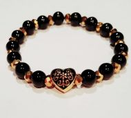 Heart and Gold Bling Bracelet
