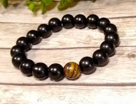 Obsidian and Tiger Eye Bracelet