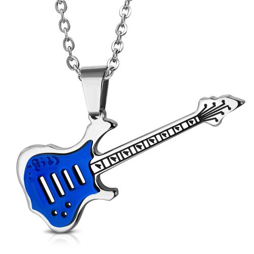 Blue Guitar Pendant