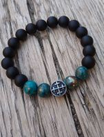 Pyrite Bracelet with Cross