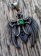 Angel Wing and Cross Necklace